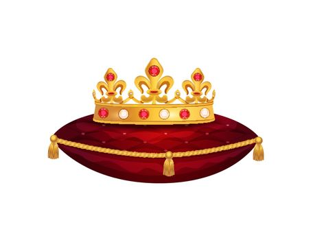 Golden Crown Pillow Composition