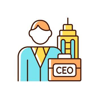 Chief executive RGB color icon
