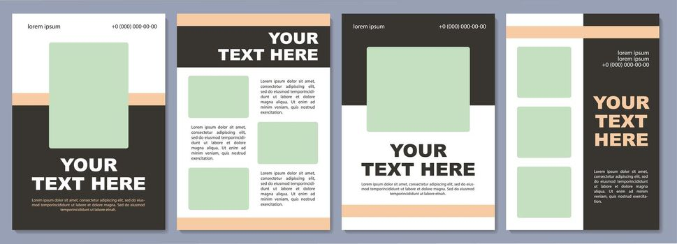 Promotional campaign brochure template