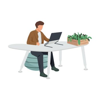Modern Furniture Workplace Composition