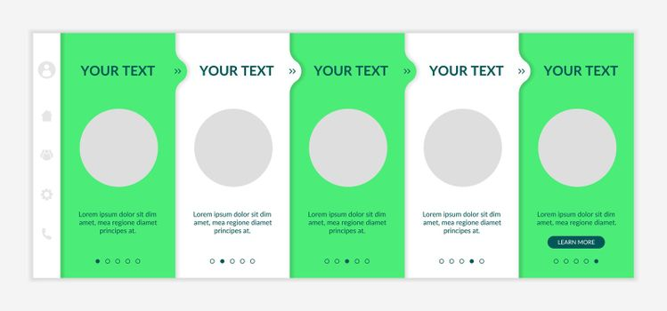 Sustainability-minded onboarding vector template