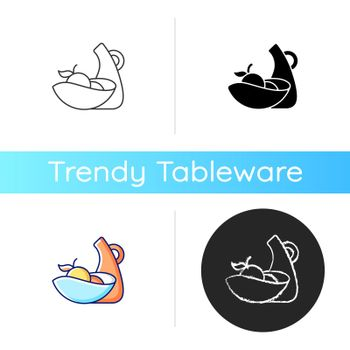 Irregular shape tableware icon