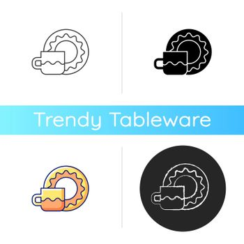 Cup and saucer set icon