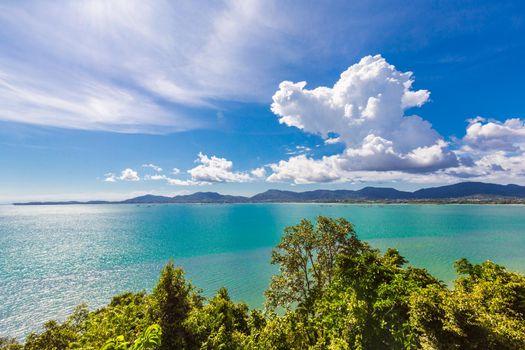 Phuket Thailand beach sea and sunlight.