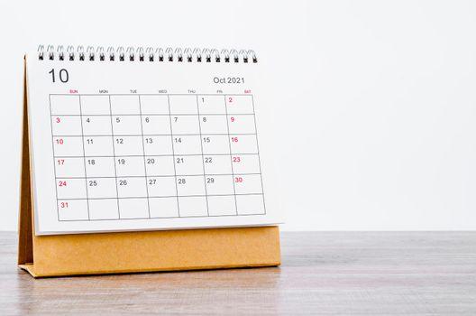October Calendar 2021.