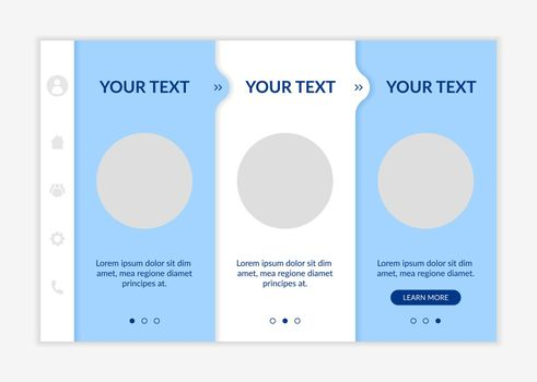 Service promotion onboarding vector template