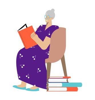 Reading Woman Illustration