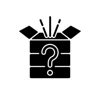 Mystery box black glyph icon