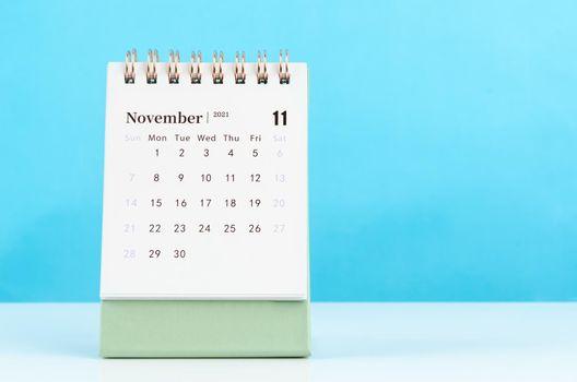 November Calendar 2021.