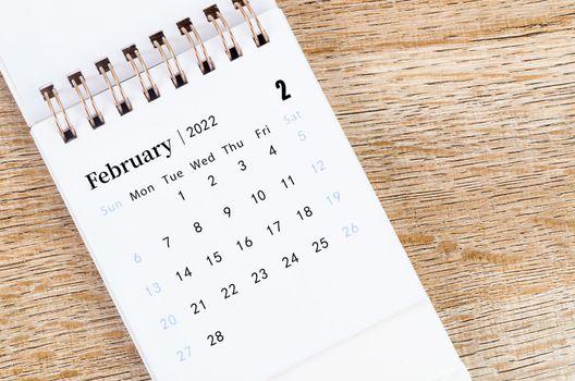 February calendar 2022.