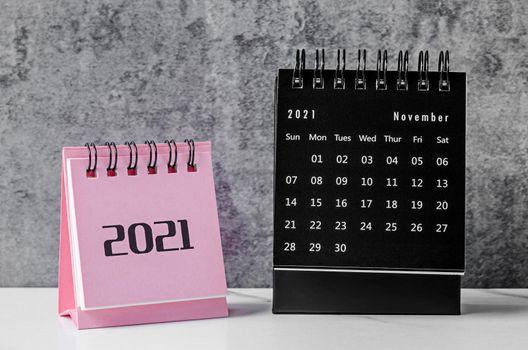 Mini Calendar November 2021.