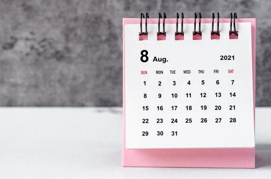Calendar August 2021.