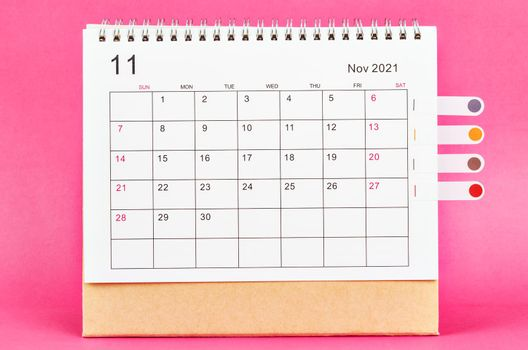 November 2021 calendar.