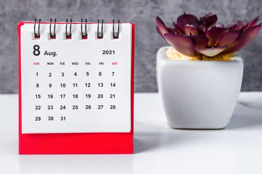 Mini Calendar August 2021.