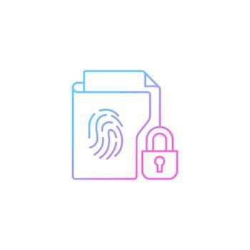 Sensitive information protection gradient linear vector icon