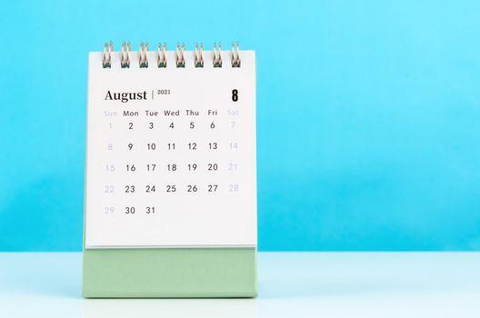 August Calendar 2021.