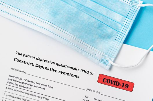 The patient depression questionnaire (PHQ-9) form for COVID-19.