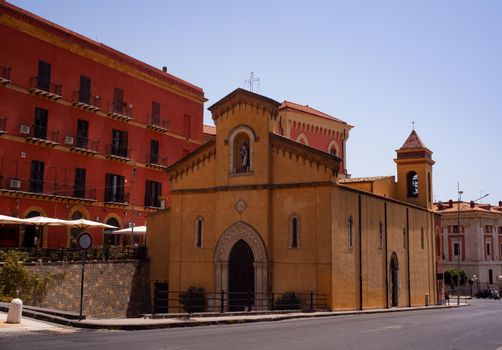 View of the baroque San Calogero church in Agrigento