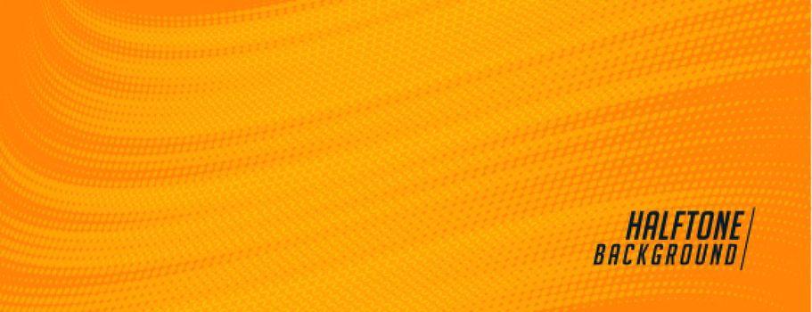 comic style orange halftone banner design