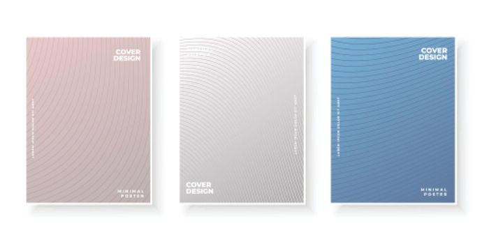 Colorful abstract template with gradient lines for cover design