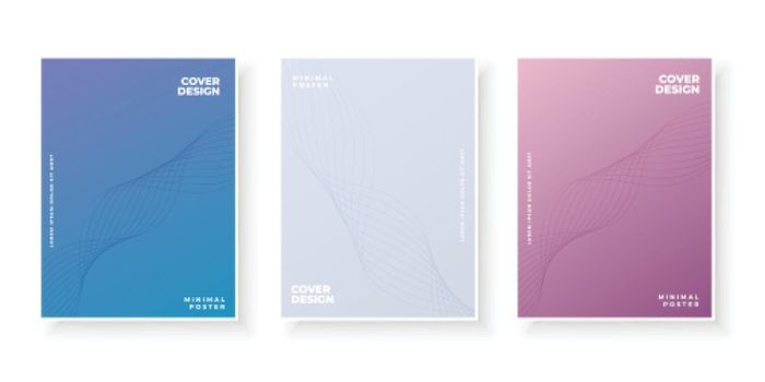 Colorful modern gradient covers template design set