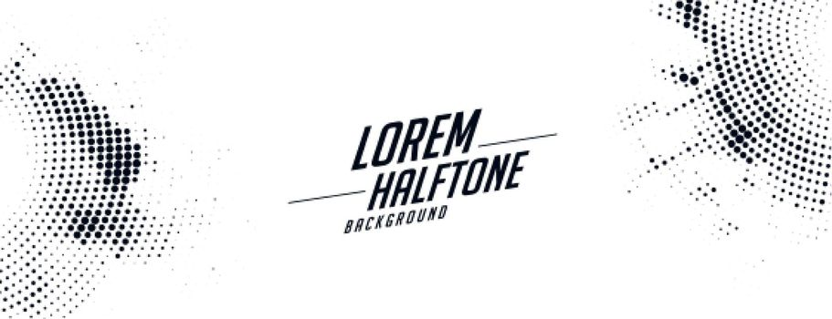 abstract white halftone banner texture