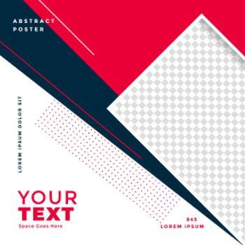 geometric style social media post banner design
