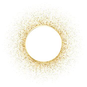 circle golden halftone frame background
