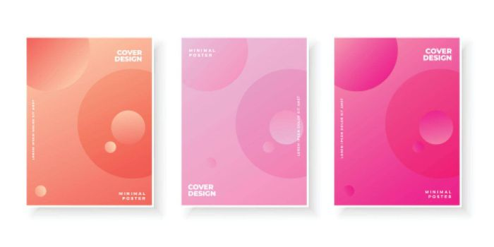Colorful abstract template with gradient for cover design