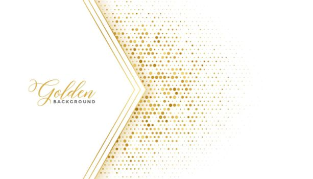 golden luxury halftone glitter white background