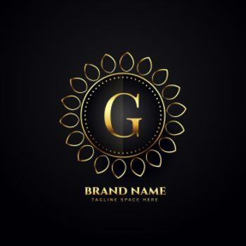 ornamental luxury logo concept for letter G