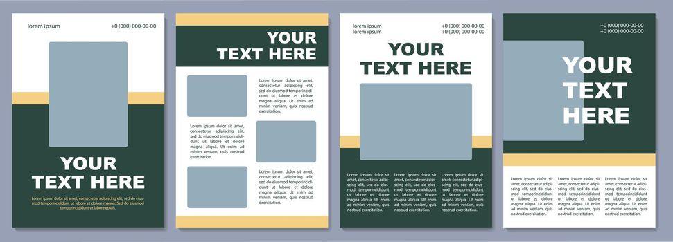 Organization promotion brochure template