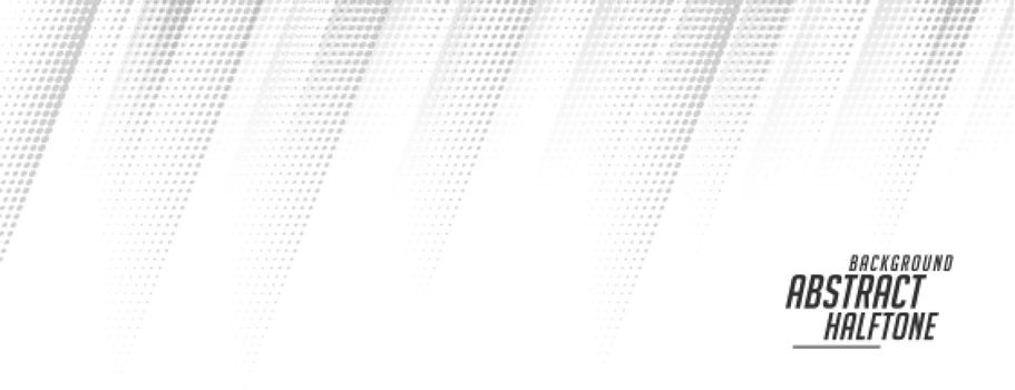 white halftone banner in motion line style