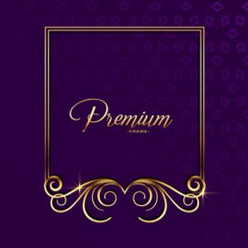 premium golden ornamental floral frame background