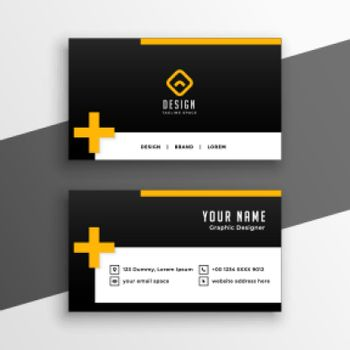 clean business card template design