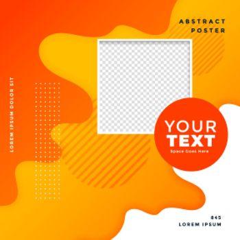 yellow orange social media post tendy banner