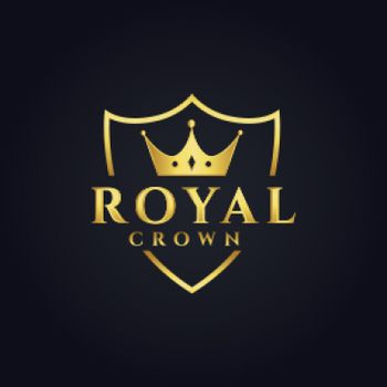 royal logo concept design with crown shape
