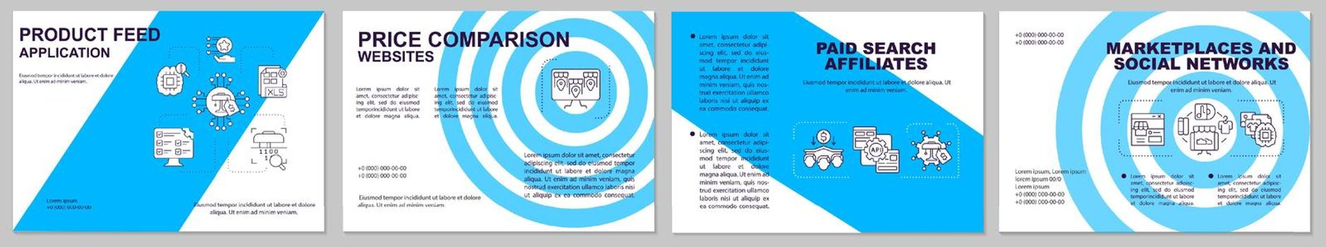 Product feed application brochure template