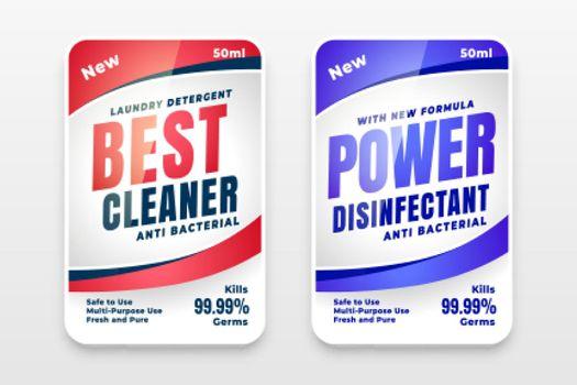 best cleaner powerful detergent label design