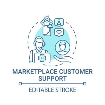 Marketplace customer support concept icon