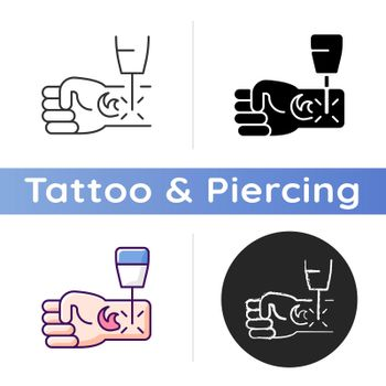 Tattoo laser removal icon
