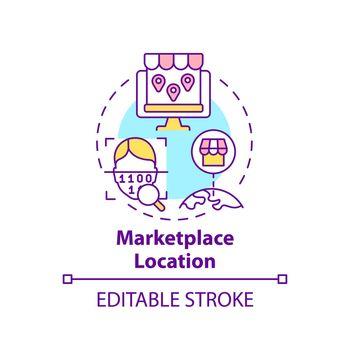 Marketplace location concept icon