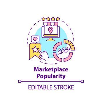Marketplace popularity concept icon