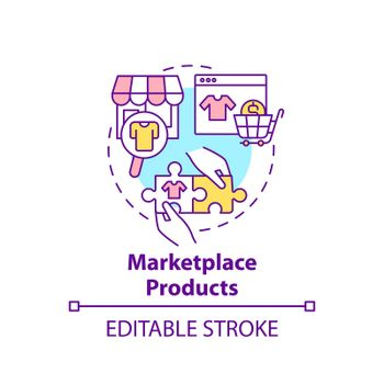 Marketplace products concept icon