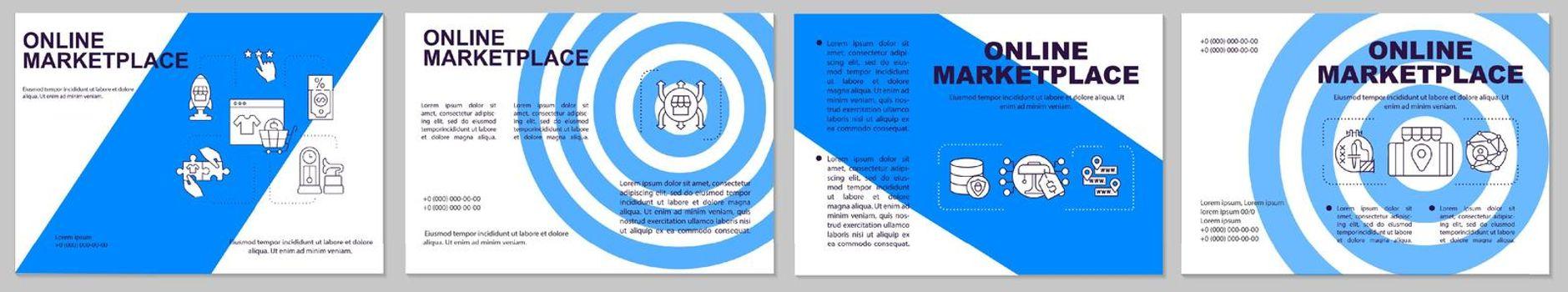 Online marketplace brochure template