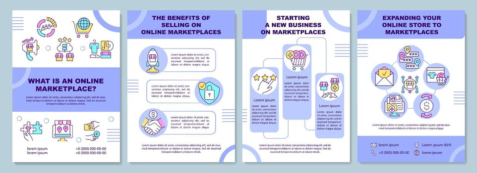 What is an online marketplace brochure template