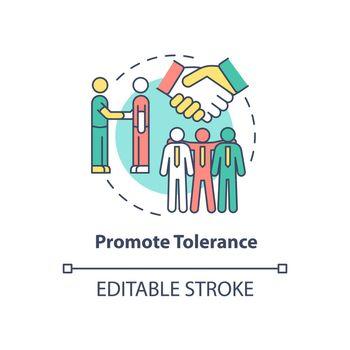 Promote tolerance concept icon