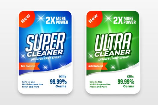 laundry detergent label design for your brand