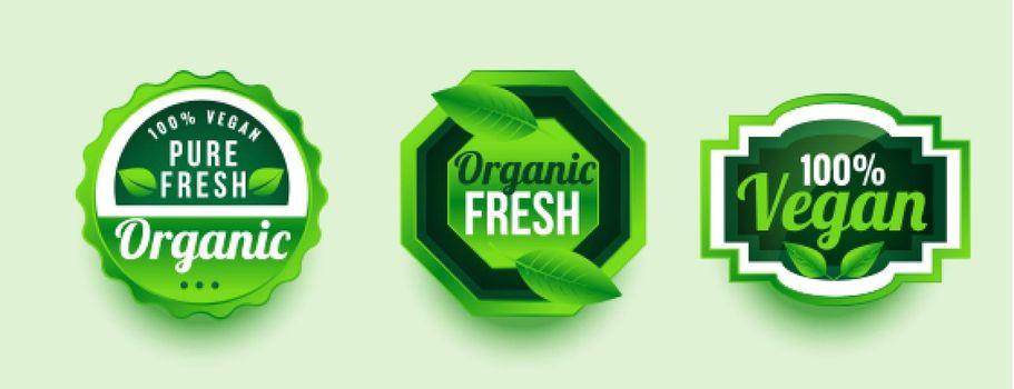 pure organic fresh product label design