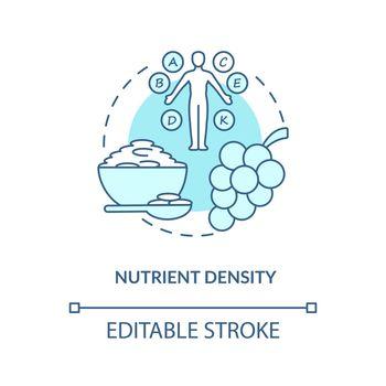 Nutrient density concept icon